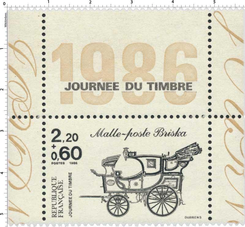 1986 JOURNÉE DU TIMBRE Malle-poste Briska