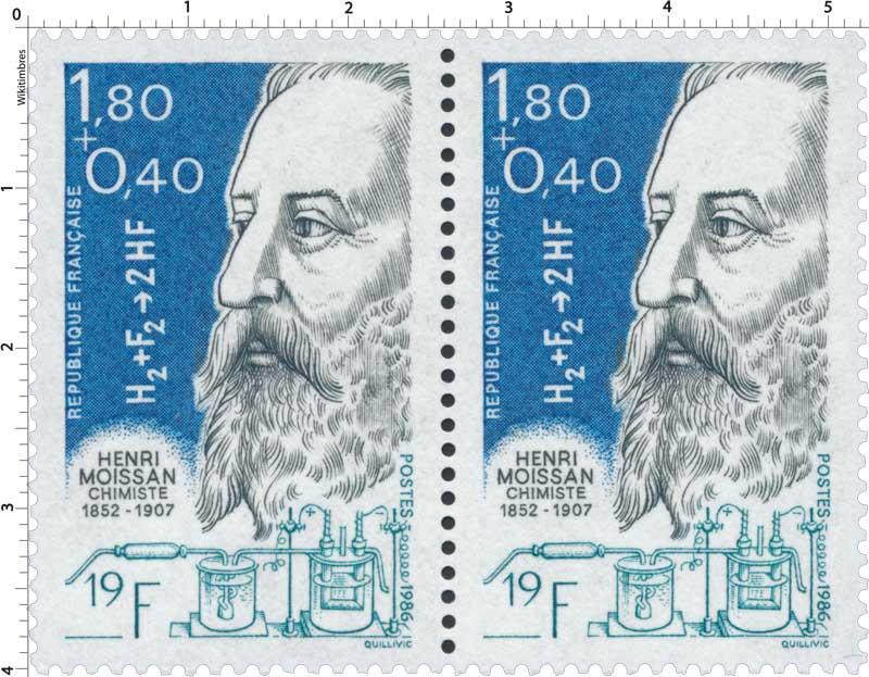 1986 HENRI MOISSAN CHIMISTE 1852-1907