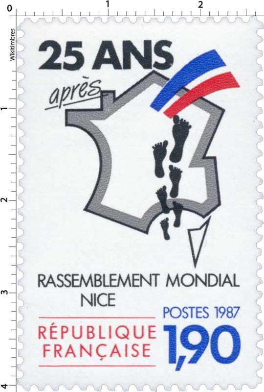 1987 25 ANS après RASSEMBLEMENT MONDIAL NICE