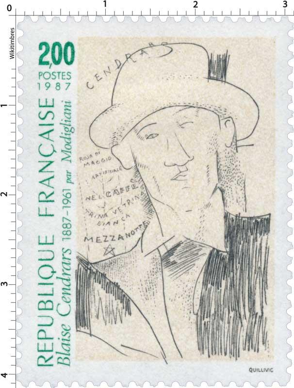 1987 Blaise Cendrars 1887-1961 par Modigliani