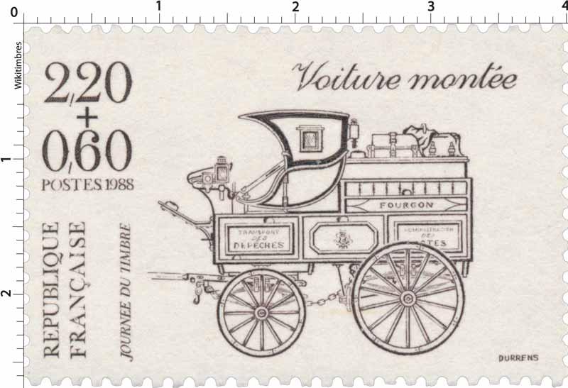 1988 JOURNÉE DU TIMBRE Voiture montée