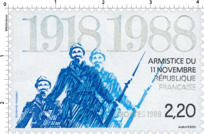 1988 ARMISTICE DU 11 NOVEMBRE 1918-1988