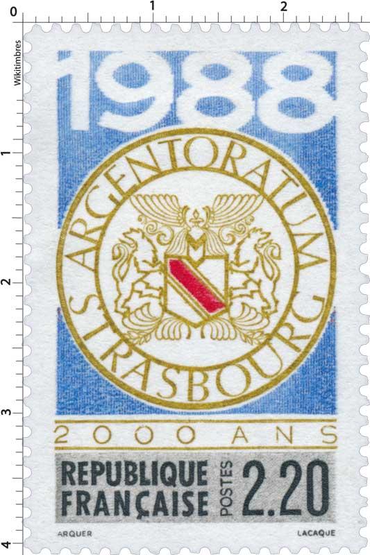 1988 ARGENTORATUM STRASBOURG 2000 ANS