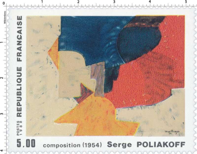 1988 Composition (1954) Serge POLIAKOFF