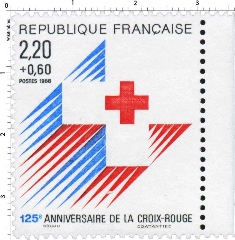 1988 125e ANNIVERSAIRE DE LA CROIX-ROUGE