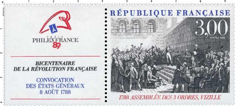 1988 ASSEMBLÉE DES 3 ORDRES, VIZILLE 1788