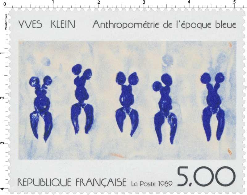 1989 YVES KLEIN Anthropométrie de l'époque bleue