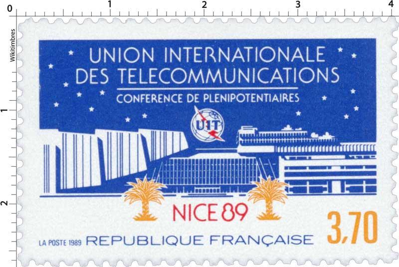 1989 UNION INTERNATIONALE DES TÉLÉCOMMUNICATIONS CONFÉRENCE DE PLÉNIPOTENTIAIRES NICE 89