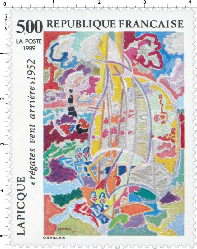 1989 LAPICQUE régates vent arrière 1952