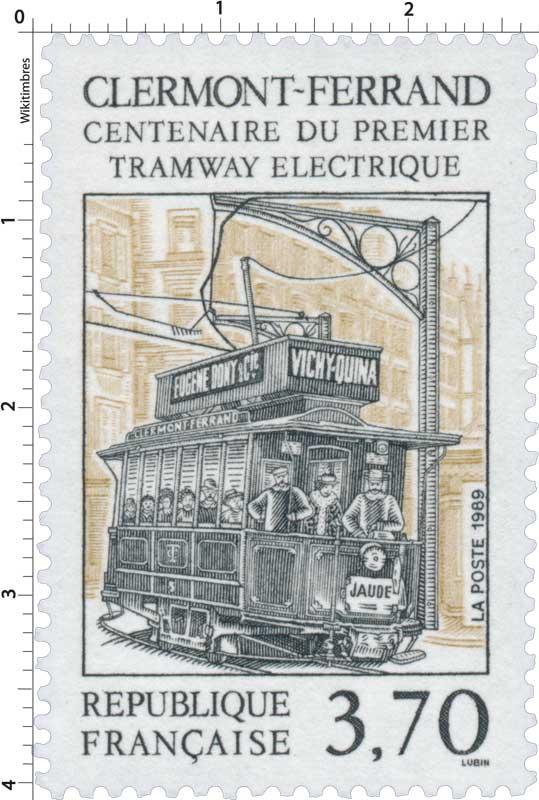 timbre 1989 clermont ferrand centenaire du premier tramway lectrique wikitimbres. Black Bedroom Furniture Sets. Home Design Ideas
