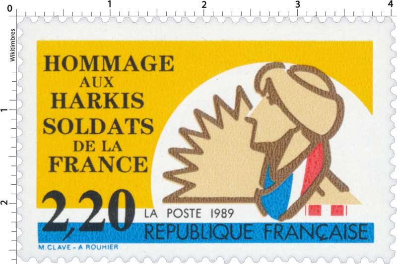 1989 HOMMAGE AUX HARKIS SOLDATS DE LA FRANCE