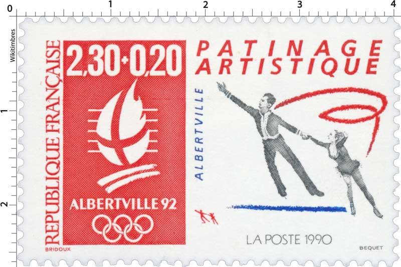 1990 ALBERTVILLE 92 PATINAGE ARTISTIQUE