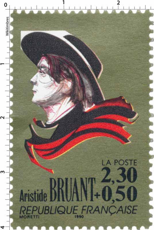 qualité et quantité assurées nouveau style super qualité Timbre : 1990 Aristide BRUANT | WikiTimbres