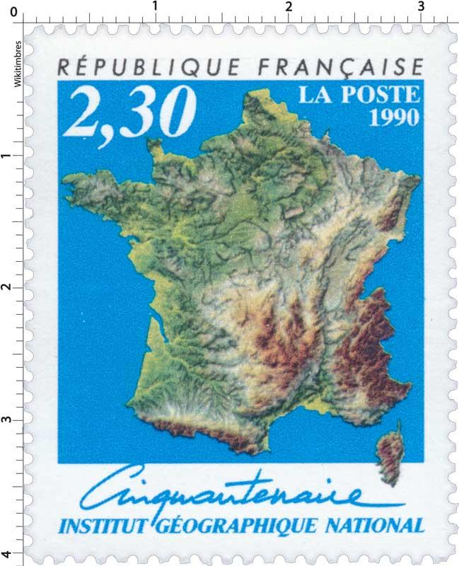1990 Cinquantenaire INSTITUT GÉOGRAPHIQUE NATIONAL