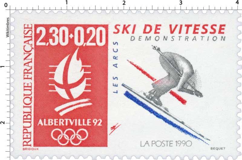 1990 ALBERTVILLE 92 SKI DE VITESSE DÉMONSTRATION LES ARCS