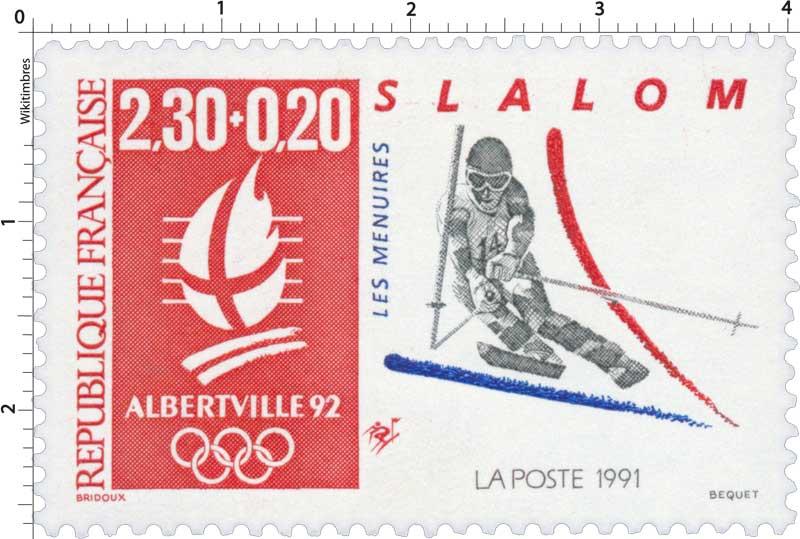 1991 ALBERTVILLE 92 SLALOM LES MÉNUIRES