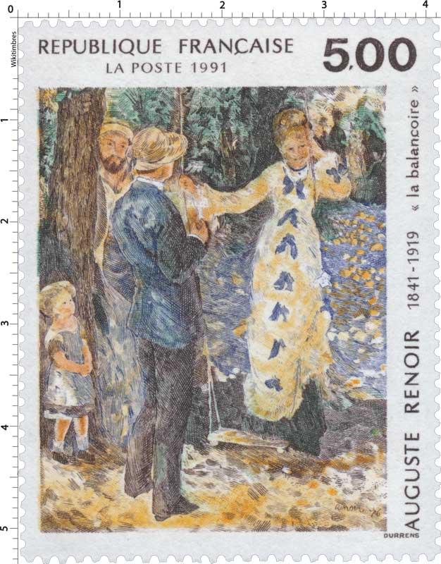1991 AUGUSTE RENOIR 1841-1919 'La balançoire