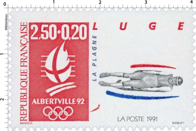 1991 ALBERTVILLE 92 LUGE LA PLAGNE