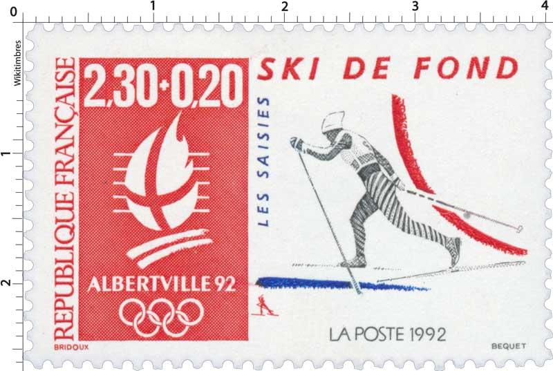 1992 ALBERTVILLE 92 SKI DE FOND LES SAISIES