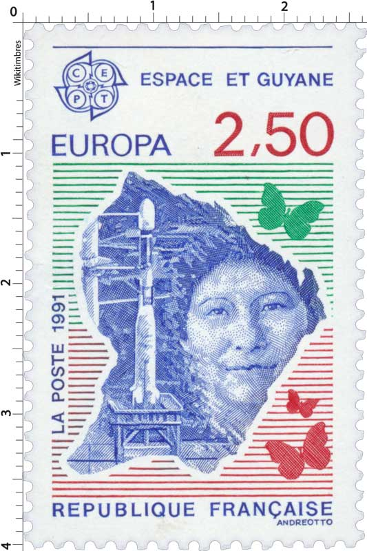 1991 EUROPA CEPT ESPACE ET GUYANE