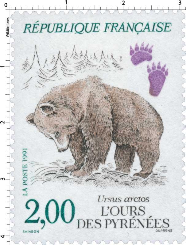 1991 L'OURS DES PYRÉNÉES Ursus arctos