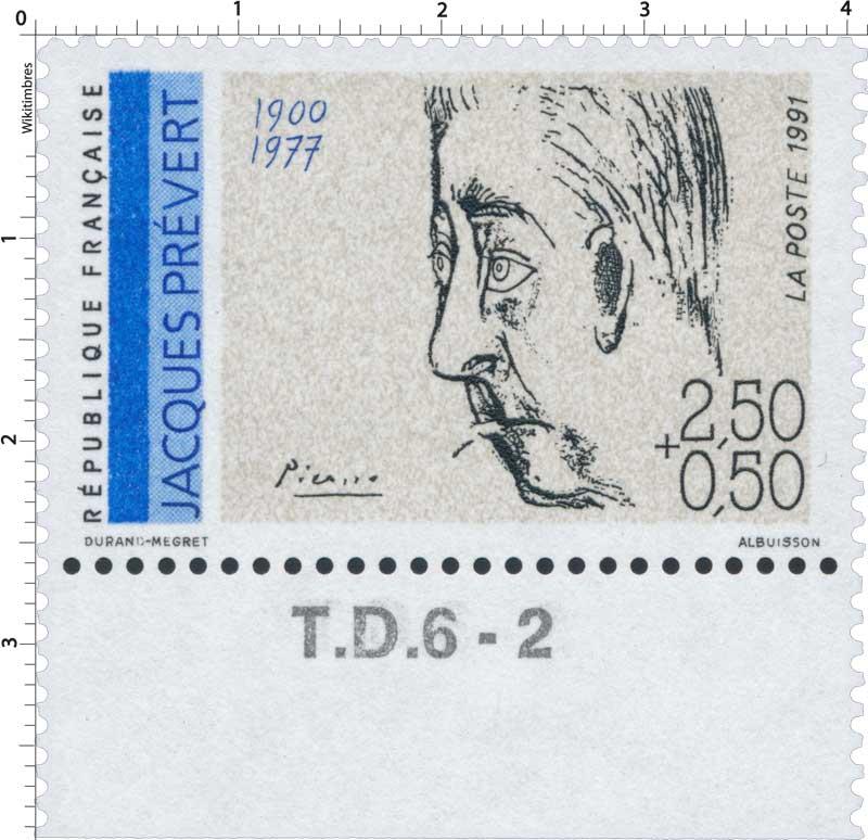 1991 JACQUES PRÉVERT 1900-1977