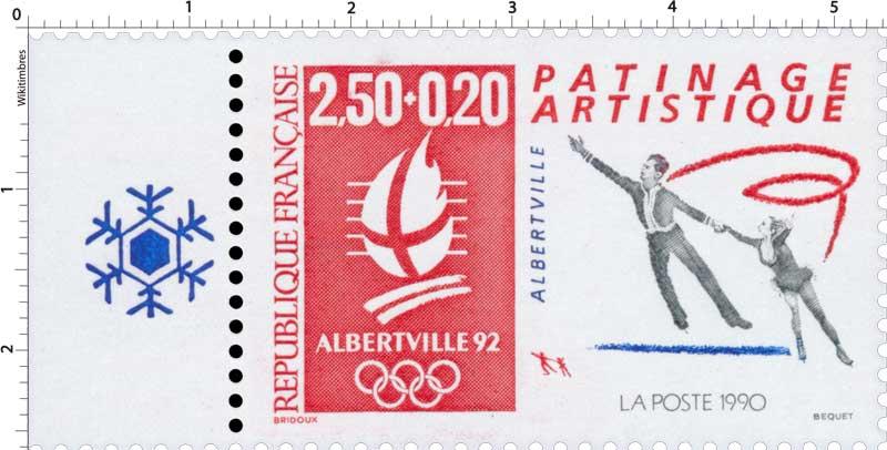 1990 ALBERTVILLE 92 PATINAGE ARTISTIQUE ALBERTVILLE