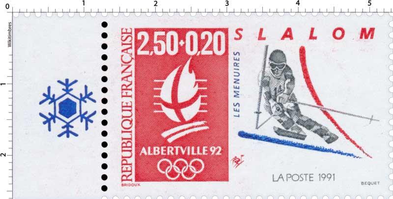 1991 ALBERTVILLE 92. JEUX OLYMPIQUES D'HIVER, SLALOM. T