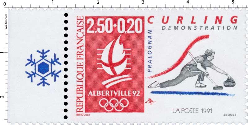 1991 ALBERTVILLE 92 CURLING DÉMONSTRATION PRALOGNAN