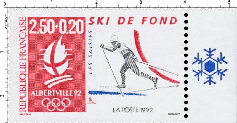 1992 ALBERTVILLE 92. JEUX OLYMPIQUES D'HIVER, SKI DE FO