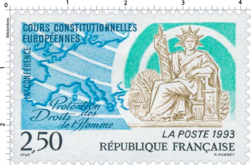 1993 COURS CONSTITUTIONNELLES EUROPÉENNES IXe CONFÉRENCE Protection des Droits de l'Homme