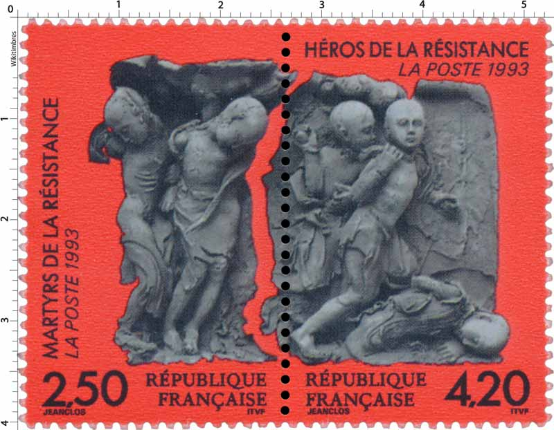 1993 MARTYRS DE LA RÉSISTANCE HÉROS DE LA RÉSISTANCE