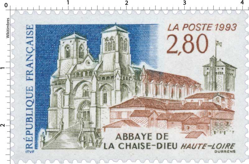 timbre 1993 abbaye de la chaise dieu haute loire wikitimbres. Black Bedroom Furniture Sets. Home Design Ideas