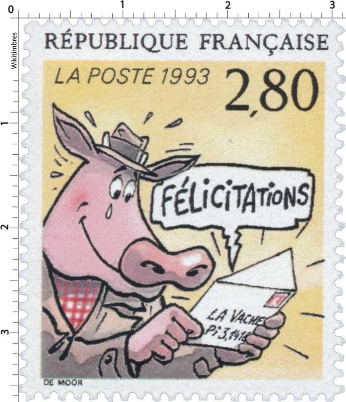 1993 FÉLICITATIONS LA VACHE Pi 3,1415