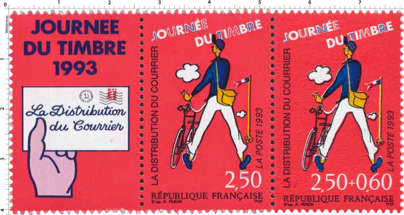 1993 JOURNÉE DU TIMBRE LA DISTRIBUTION DU COURRIER