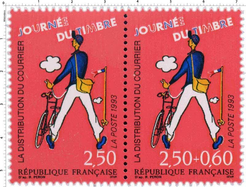 1993 JOURNÉE DU TIMBRE LA DISTRIBUTION DU COURRIER