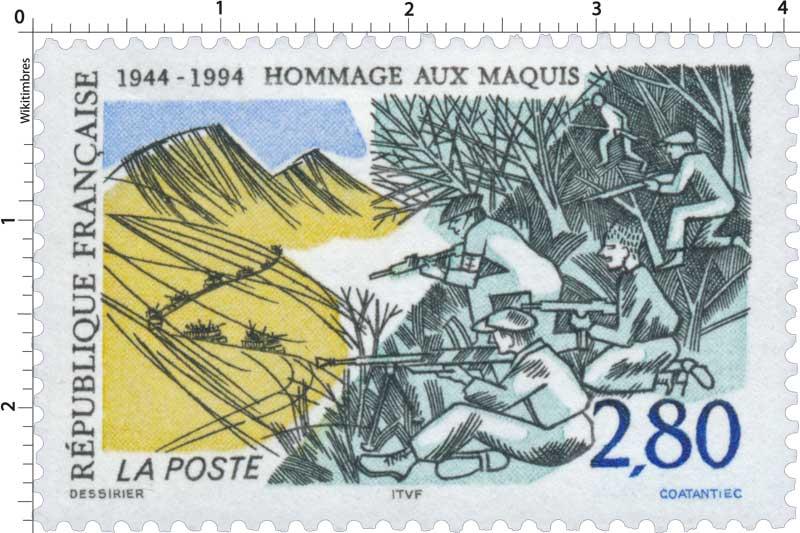 HOMMAGE AUX MAQUIS 1944-1994