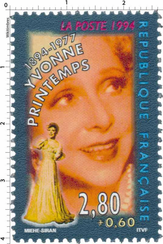1994 YVONNE PRINTEMPS 1894-1977