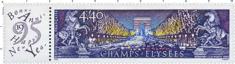 1995 CHAMPS-ÉLYSÉES Bonne Année Happy New Year