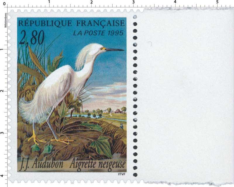 1995 J.J. Audubon Aigrette neigeuse