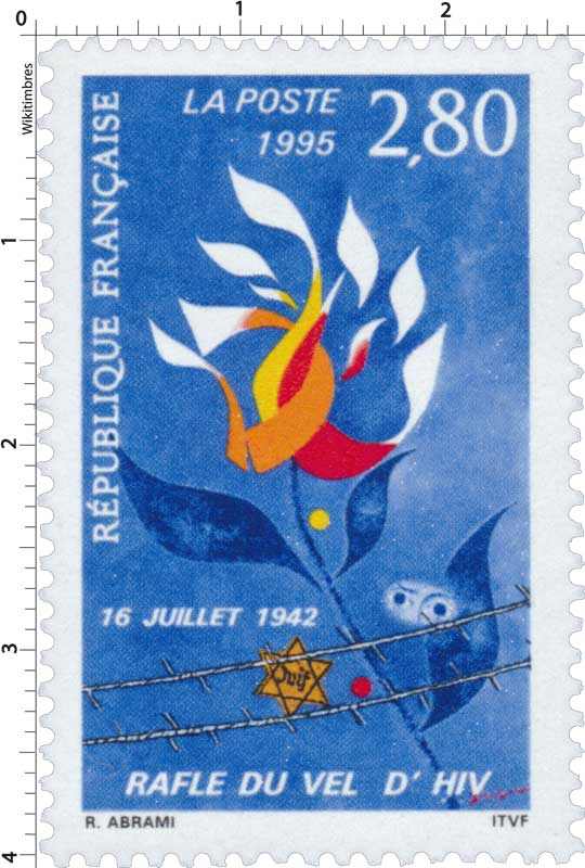 1995 16 JUILLET 1942 RAFLE DU VEL D'HIV