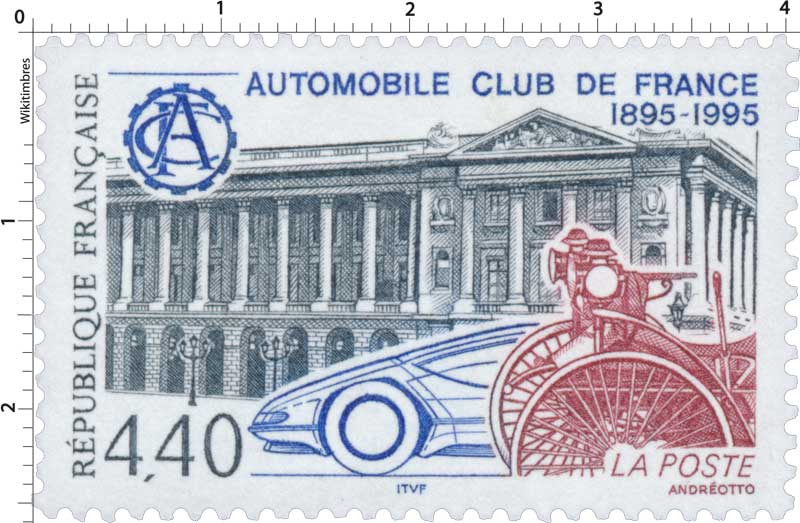 AUTOMOBILE CLUB DE FRANCE 1895-1995 ACF