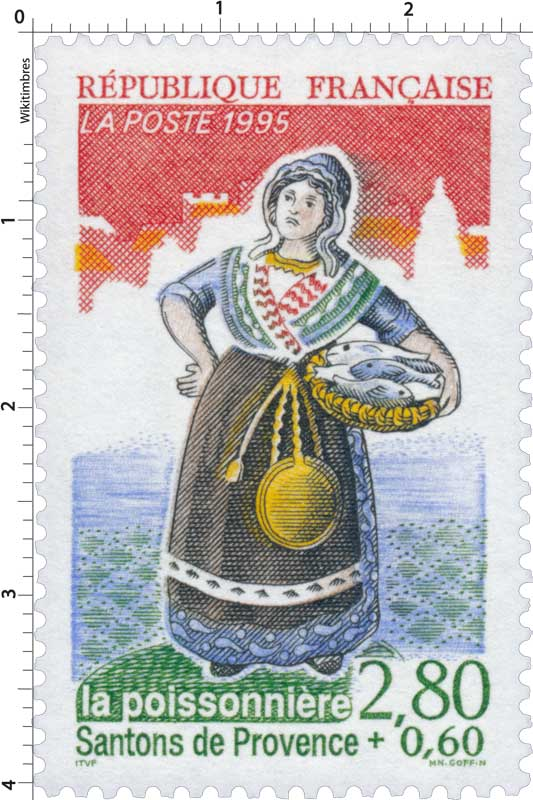 1995 Santons de Provence la poissonnière