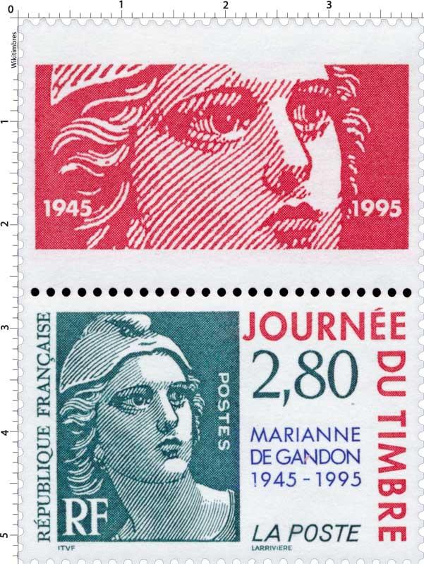 JOURNÉE DU TIMBRE MARIANNE DE GANDON 1945-1995