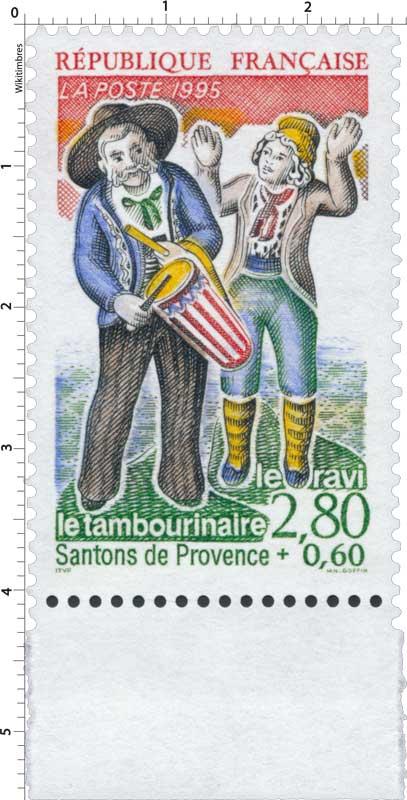 1995 Santons de Provence le ravi le tambourinaire