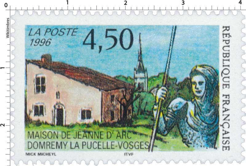 timbre 1996 maison de jeanne d 39 arc domr my la pucelle vosges wikitimbres. Black Bedroom Furniture Sets. Home Design Ideas