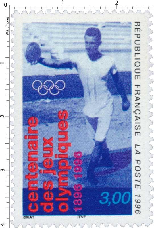 1996 centenaire des Jeux olympiques 1896-1996