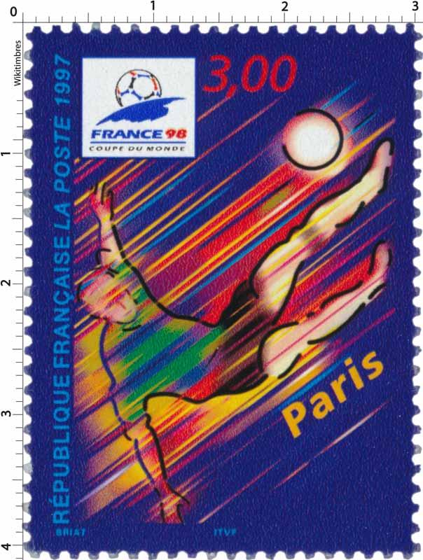 Timbre 1997 france 98 coupe du monde paris wikitimbres - France 98 coupe du monde ...