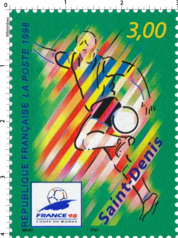 Timbre 1998 france 98 coupe du monde de football saint denis wikitimbres - France 98 coupe du monde ...