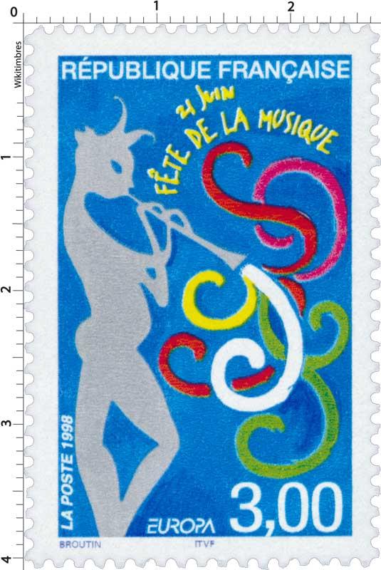 1998 EUROPA 21 JUIN FÊTE DE LA MUSIQUE